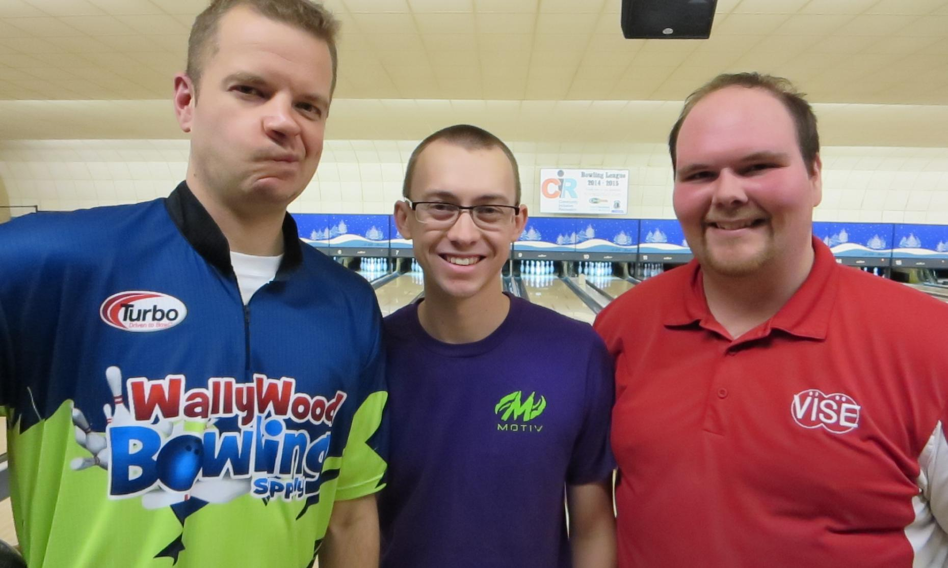 2014 Championship Finalists Brian Waliczek, EJ Tackett, and Trey Raynes