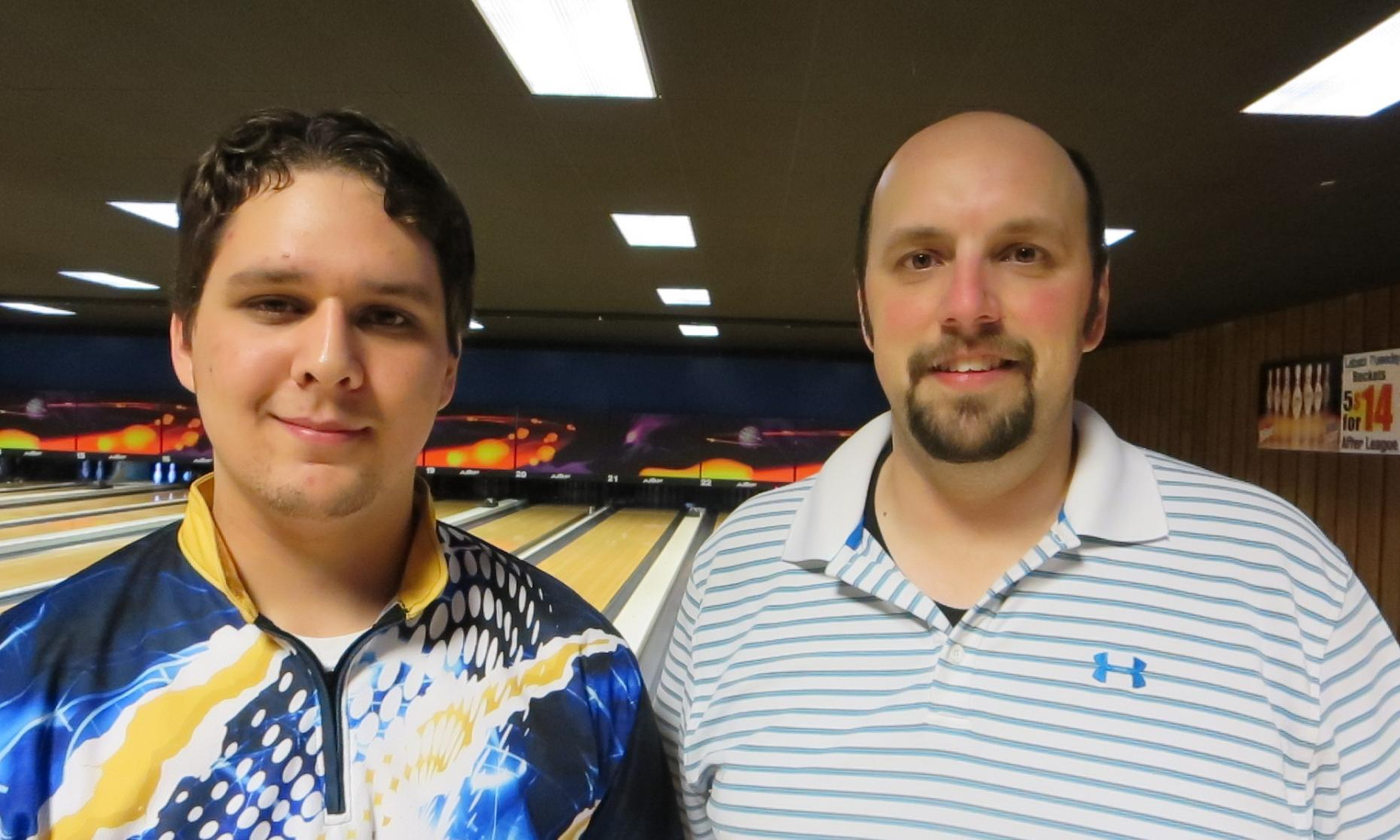 Runner up Neeko Robison (left) and Champion Andy Smith (right)