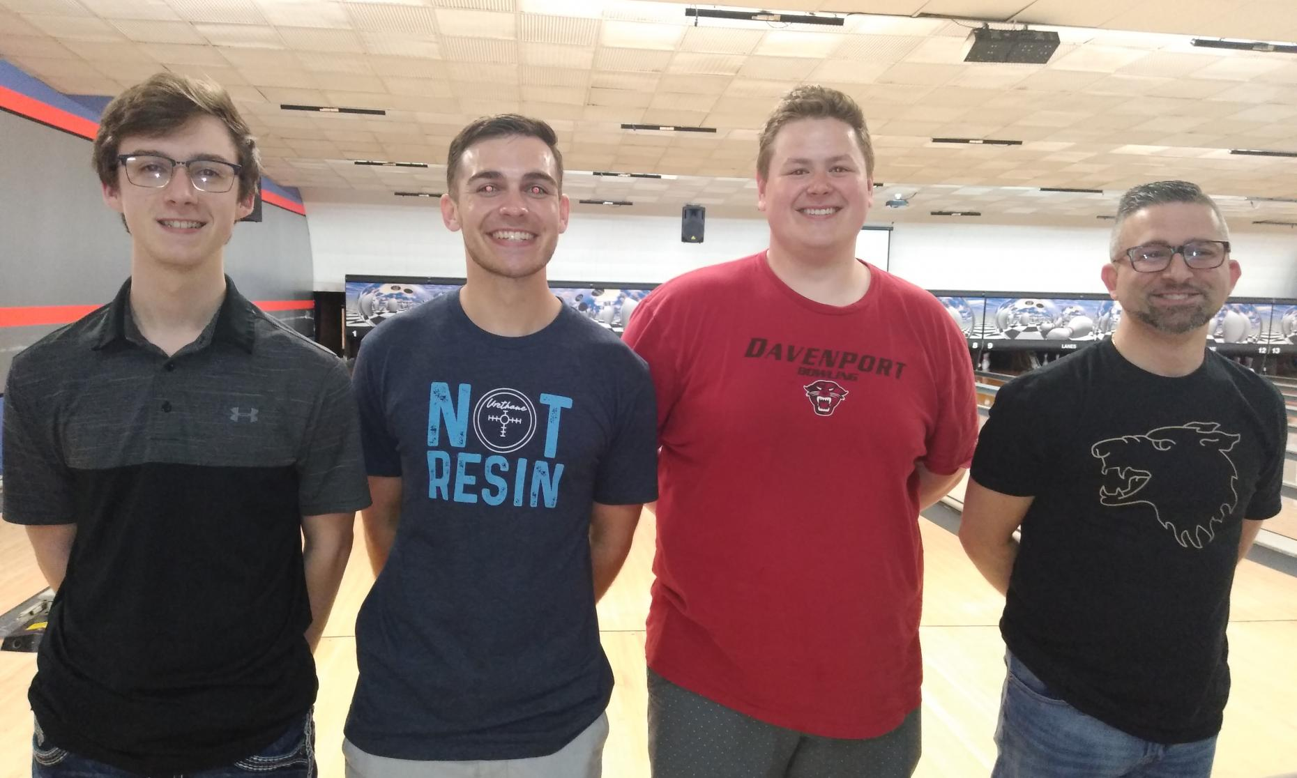 Champion Marcus McClain, Runner-Up Mike Jachcinski, Bryan Eaton, and Frank Testa