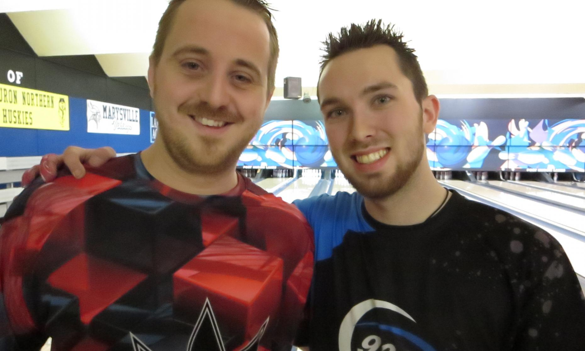 Runner up Matt Langolf (left) and Champion Kyle King (right)