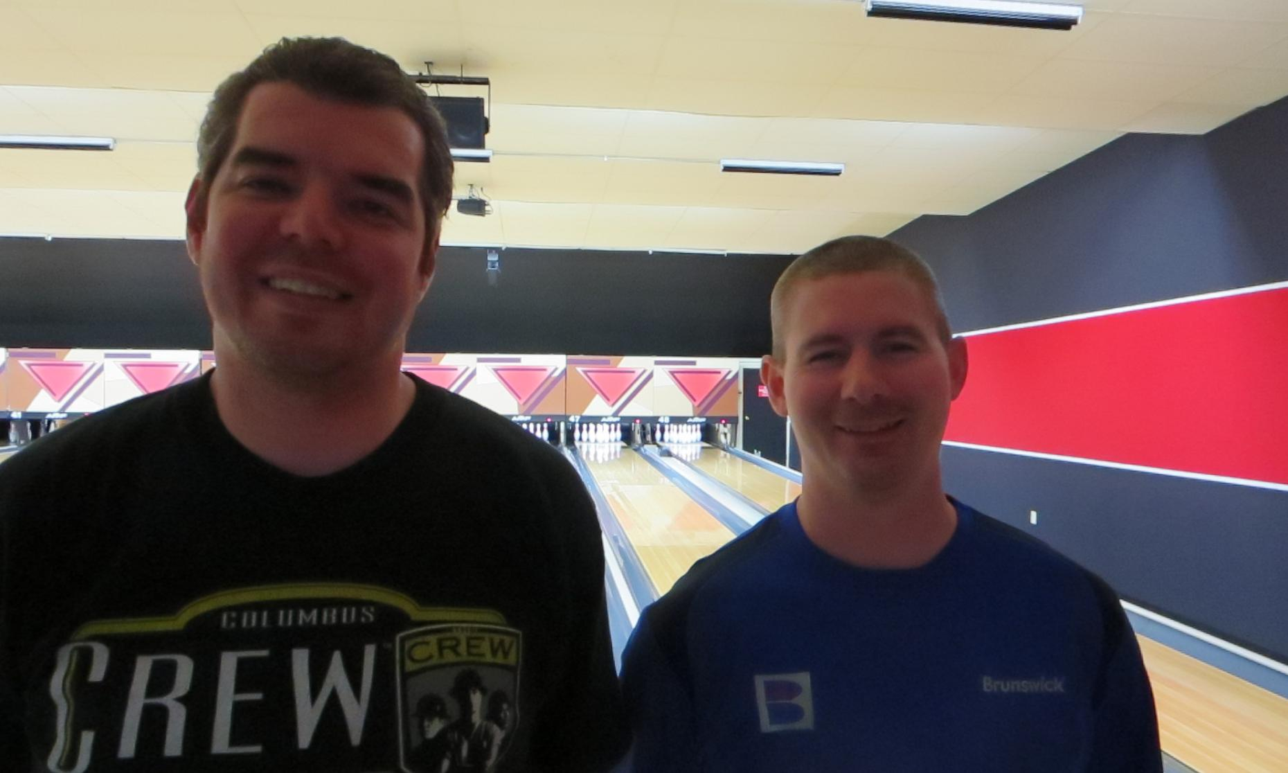 Runner up Mike Clark, Jr. and Champion Patrick Dombrowski