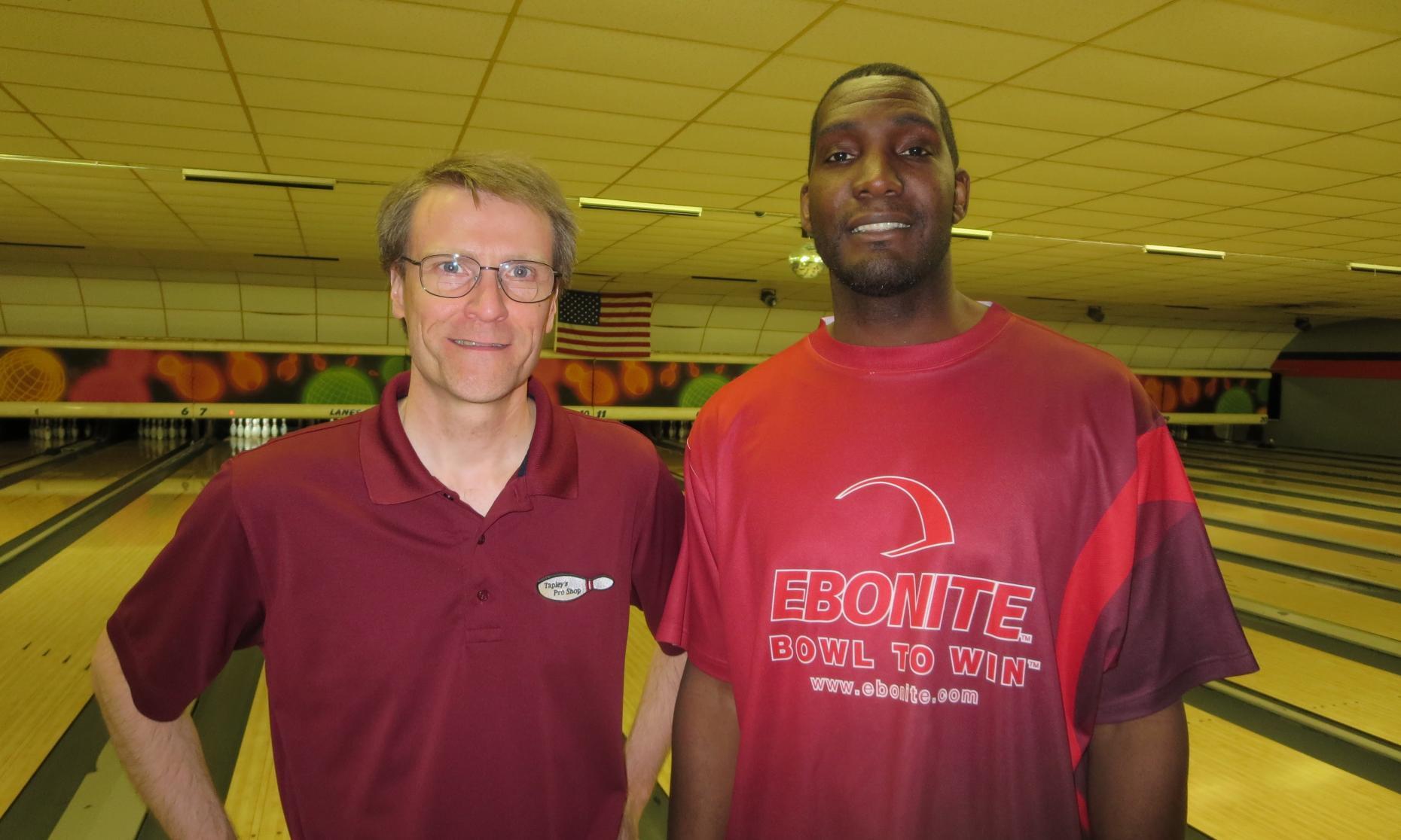 University Lanes Sweeper Champion Scott Tapley and Runner-Up Lonnie Jones