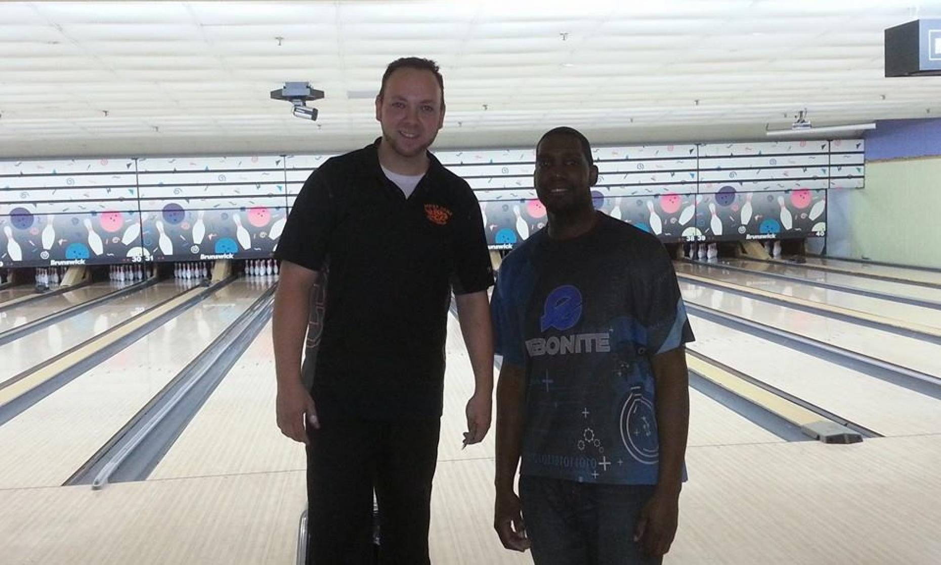 Plaza Lanes Champion JR Raymond and Runner-Up Lonnie Jones