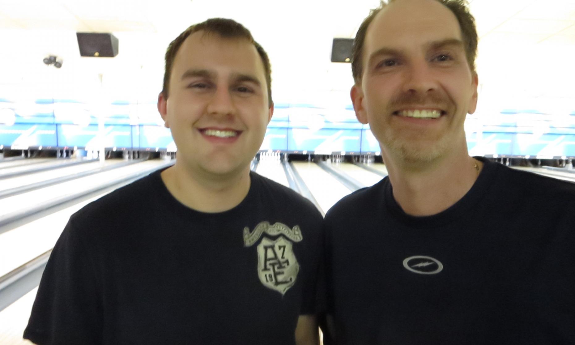 Runner up Scott Patke and Champion Kurt Pilon