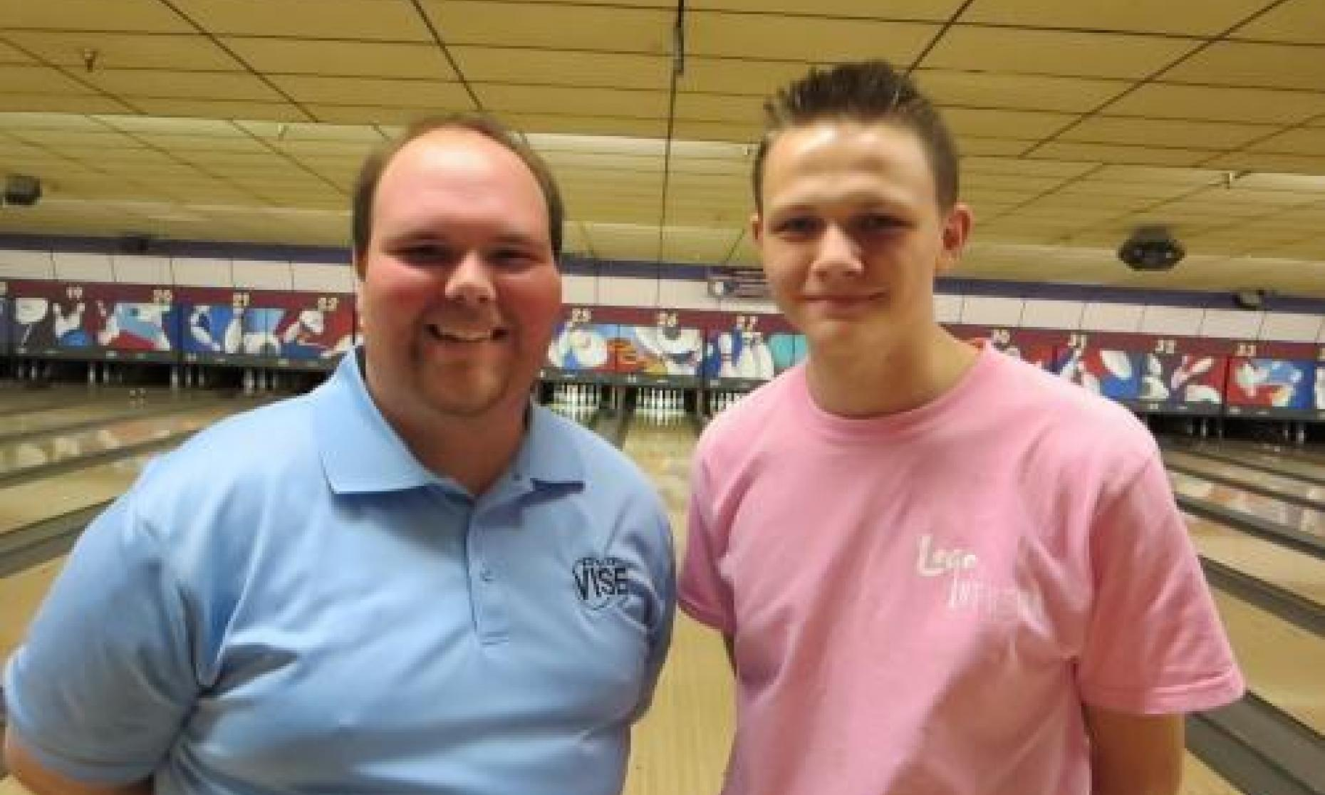 Runner up and high qualifier Trey Raynes and Champion Andrew Anderson